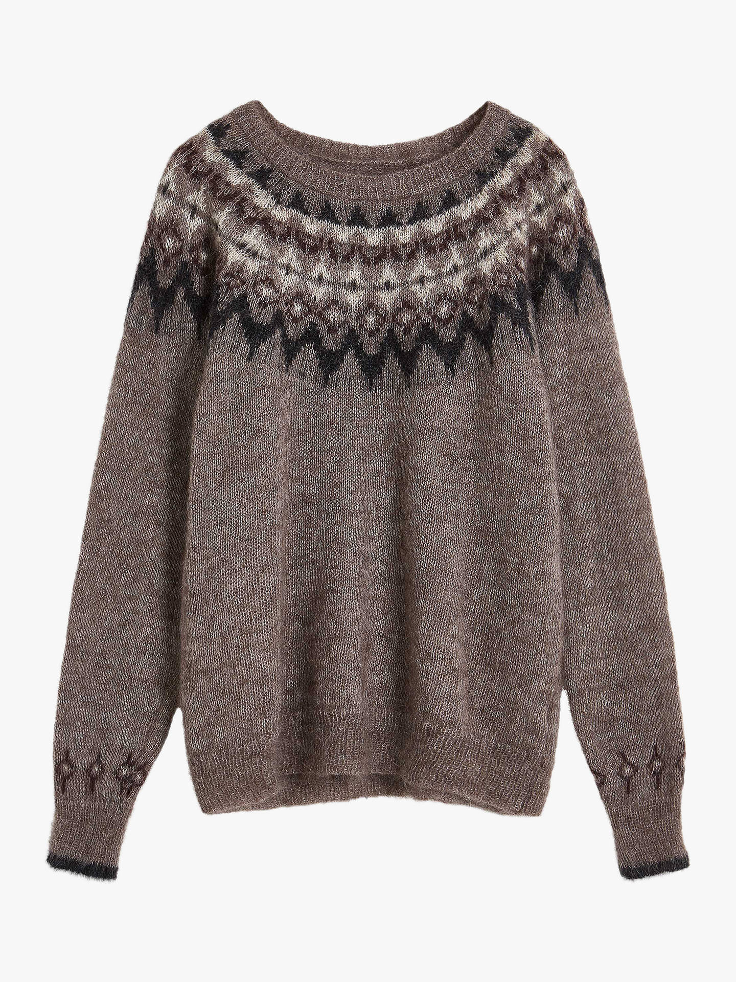 Buy Brora Mohair Blend Icelandic Jumper, Mink, 6 Online at johnlewis.com