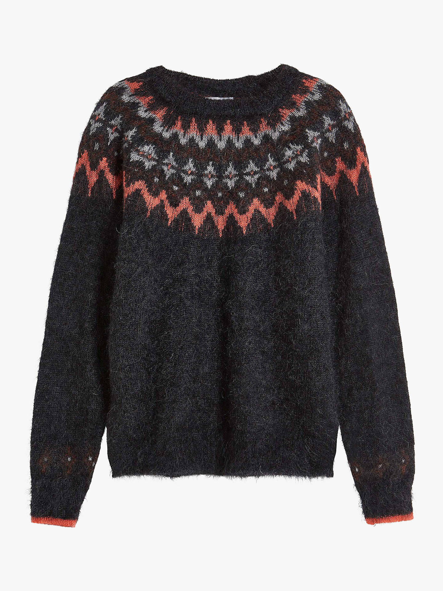 Buy Brora Mohair Blend Icelandic Jumper, Charcoal, 6 Online at johnlewis.com