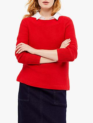 White Stuff Cote Textured Cotton Jumper