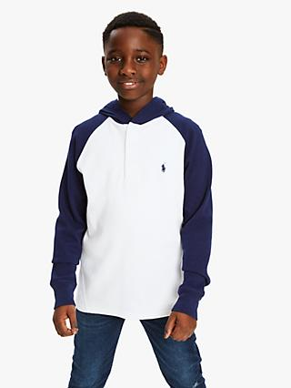 Polo Ralph Lauren Boys' Long Sleeve Hoodie, White