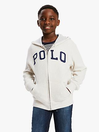 Polo Ralph Lauren Boys' Zipped Hoodie, Sand