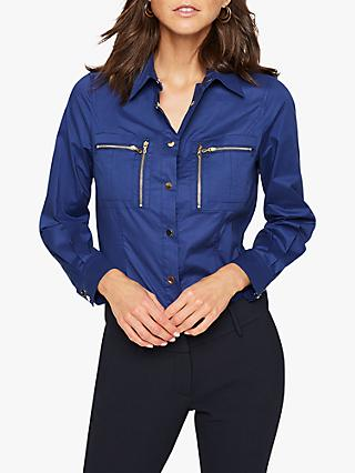 Damsel in a Dress Rearden Zip Shirt, Navy
