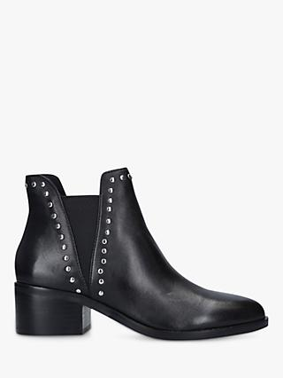 Steve Madden Cade Block Heel Leather Ankle Boots