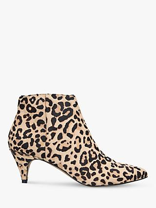Steve Madden Lucinda Leopard Print Ankle Boots, Brown