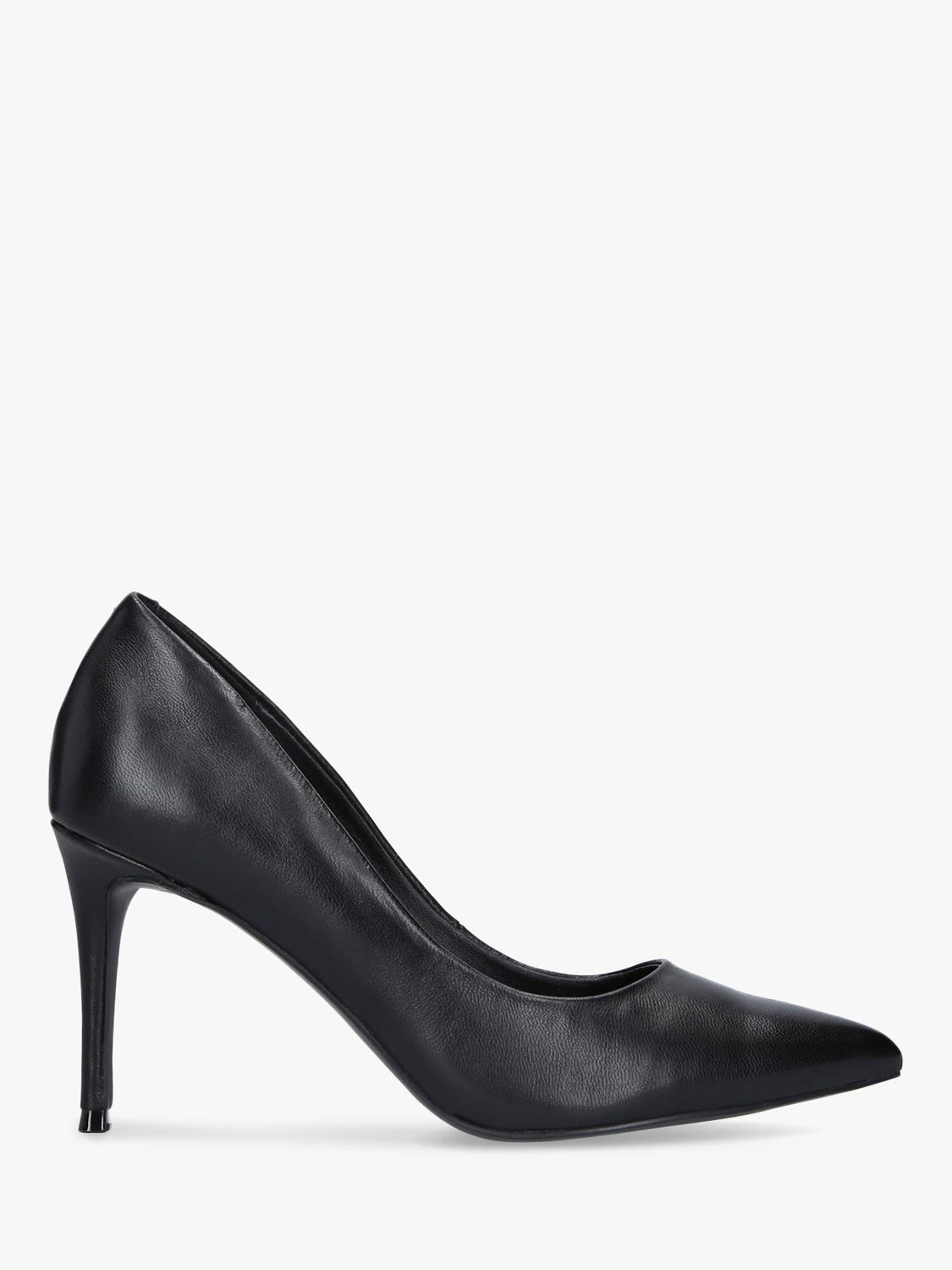Steve Madden Steve Madden Lillie Stiletto Heel Leather Court Shoes, Black