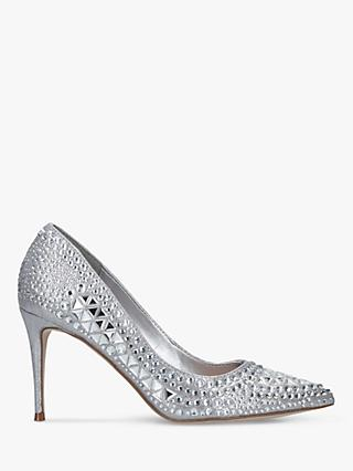 Steve Madden Lilett Stiletto Heel Court Shoes, Silver