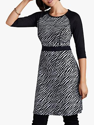 Yumi Zebra Print Dress, Black