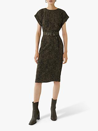 Warehouse Abstract Midi Shift Dress, Multi