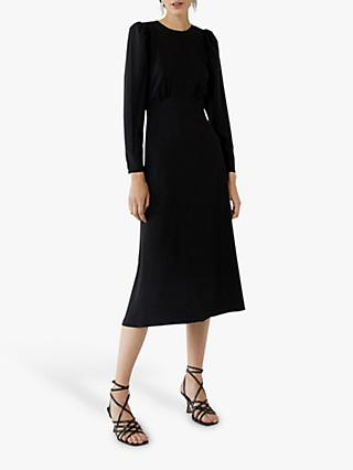 Warehouse Puff Sleeve Dress