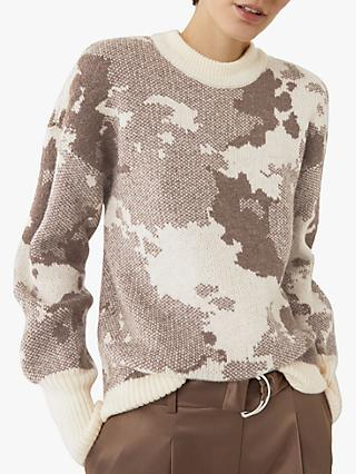 Warehouse Oversized Camo Print Jumper