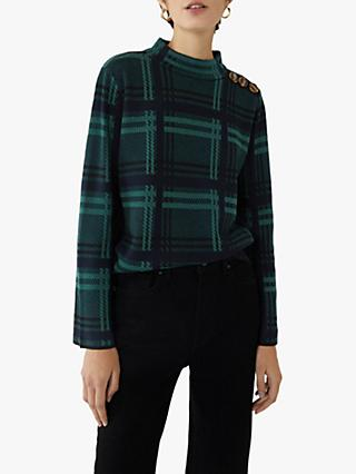 Warehouse Check Button Shoulder Jumper