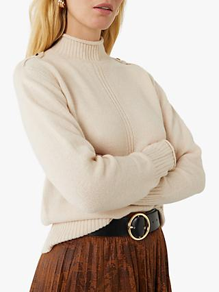 Warehouse Utility Cosy Funnel Neck Jumper