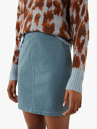 Warehouse Cord Mini Skirt
