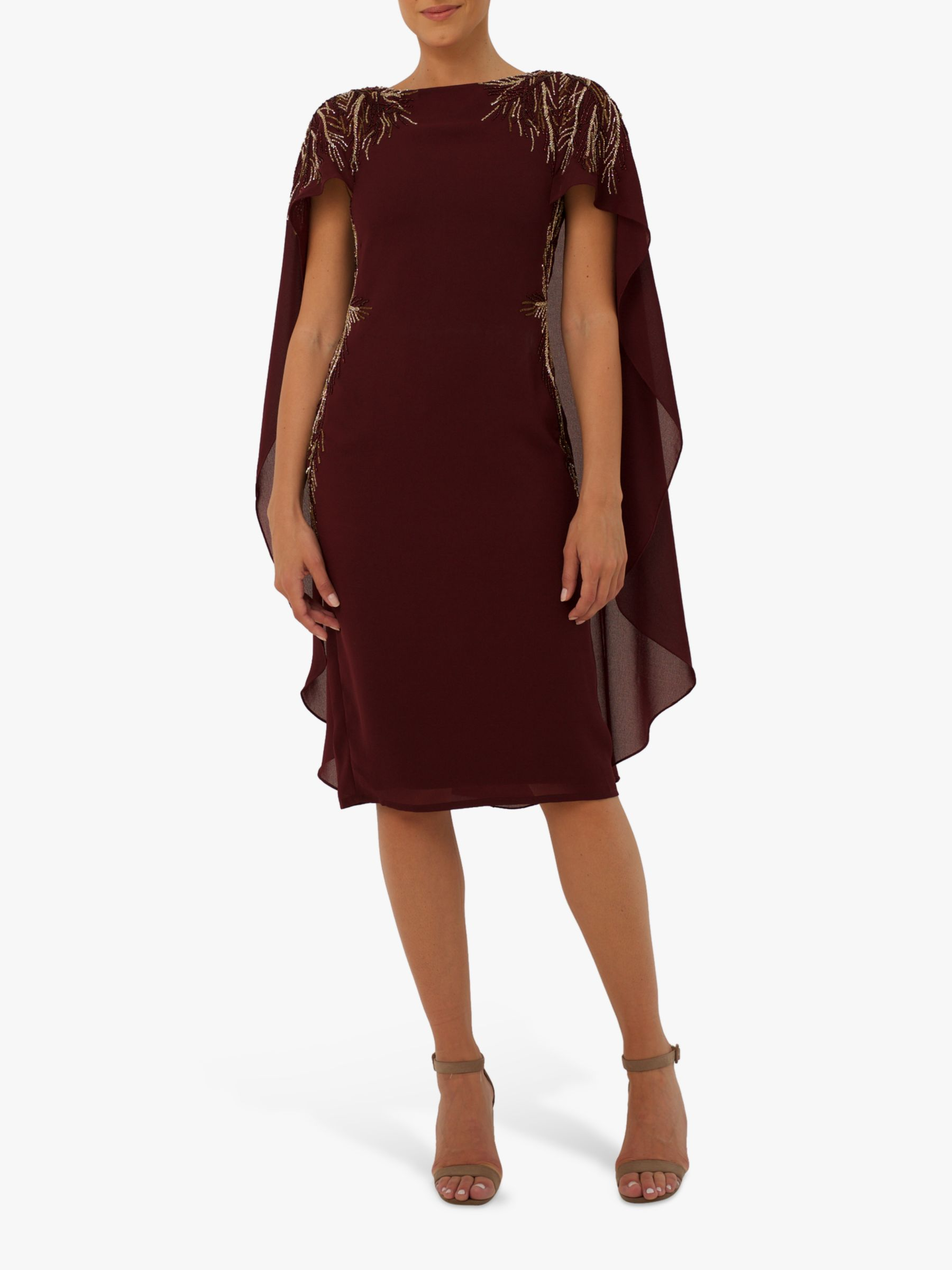 RAISHMA Raishma Eva Sequin Detail Cape Dress