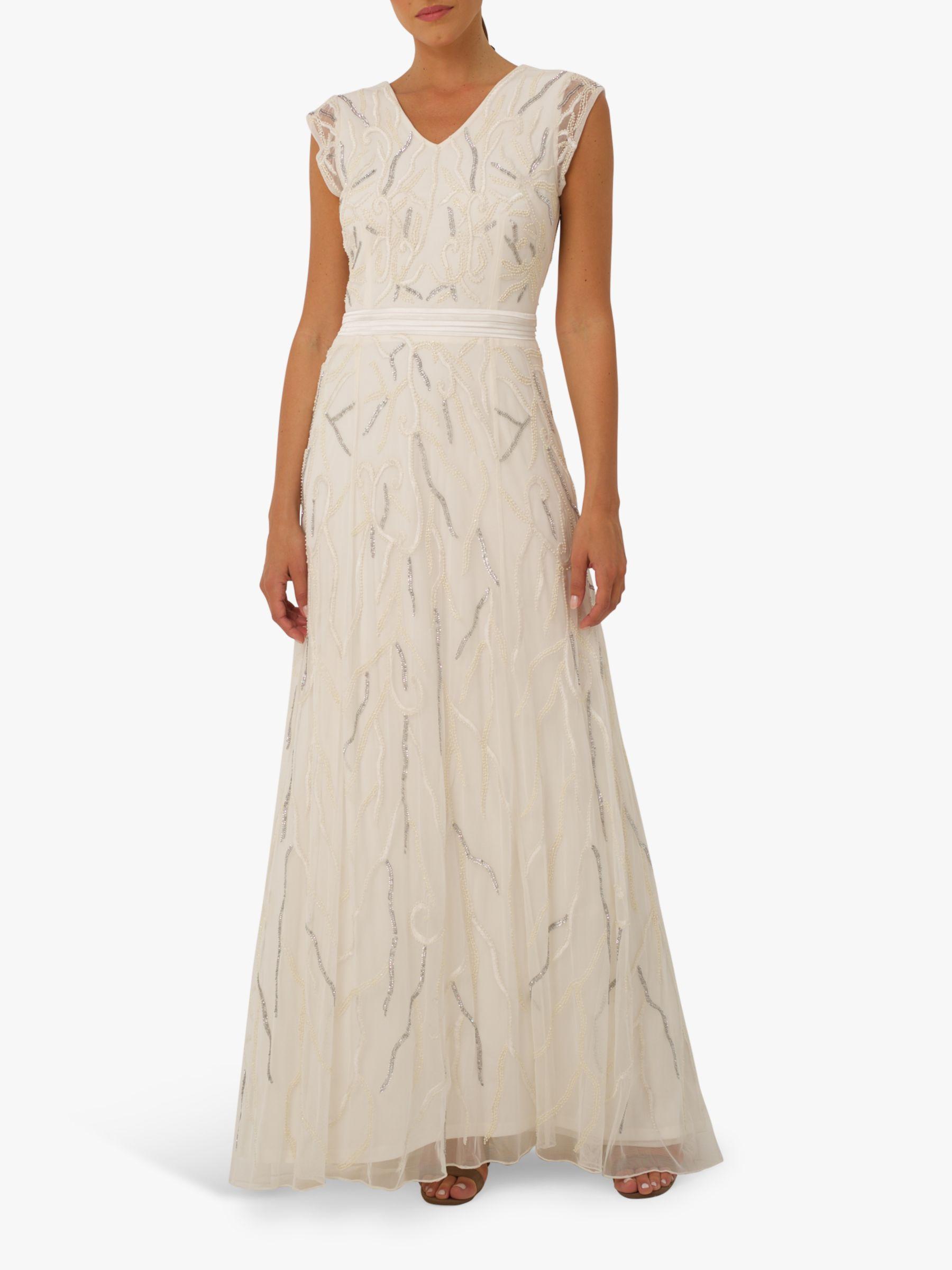 RAISHMA Raishma Eden Bead Embellishment Gown, Ivory