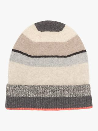Jigsaw Cashmere Striped Block Beanie, Multi