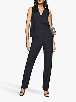 Reiss Marty Tailored Jumpsuit, Navy