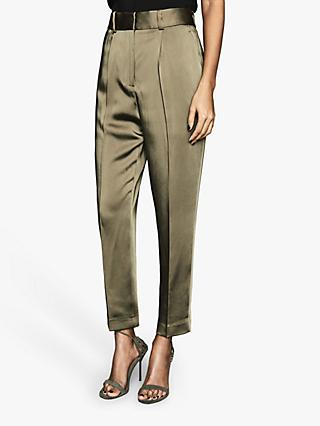 Reiss Elyssa Satin Tailored Trousers