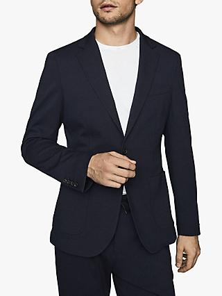 Reiss Slim Fit Flexo Jersey Stretch Suit Jacket, Navy