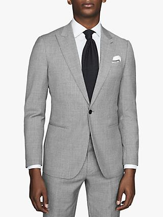 Reiss Trullo Hopsack Wool Slim Fit Suit Jacket, Soft Grey