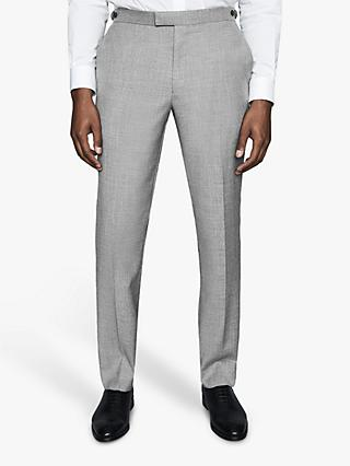 Reiss Trullo Hopsack Wool Slim Fit Suit Trousers, Soft Grey