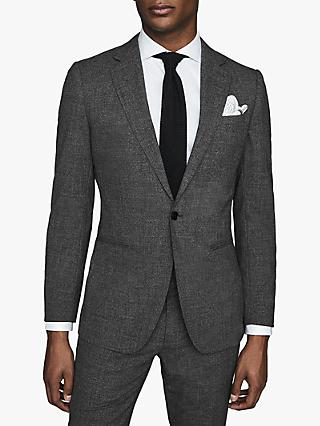 Reiss Viper Textured Slim Fit Suit Jacket, Charcoal