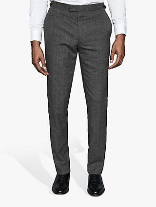 Reiss Viper Textured Slim Fit Suit Trousers, Charcoal