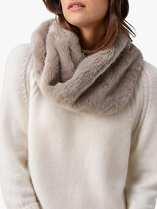 Pure Collection Faux Fur Snood, Smoke