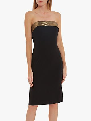 Gina Bacconi Gracella Chiffon Dress, Black/Gold