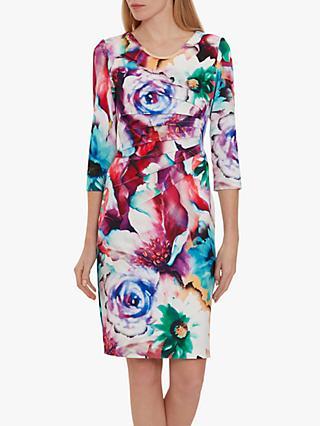 Gina Bacconi Lareina Floral Dress, Multi