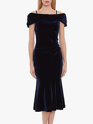 Gina Bacconi Maelle Off Shoulder Velvet Midi Dress