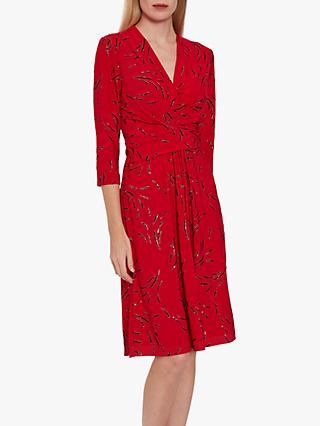 Gina Bacconi Miranda Jersey Dress, Red