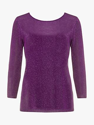 Phase Eight Macey Fitted Jumper, Magenta