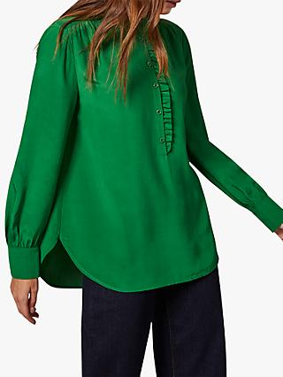 Phase Eight Loni Button Blouse, Green