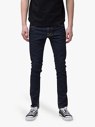 Nudie Jeans Slim Tight Terry Jeans, Rinse Twill