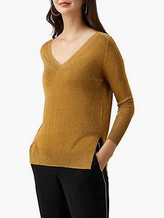 Pure Collection V-Neck Sparkle Sweater