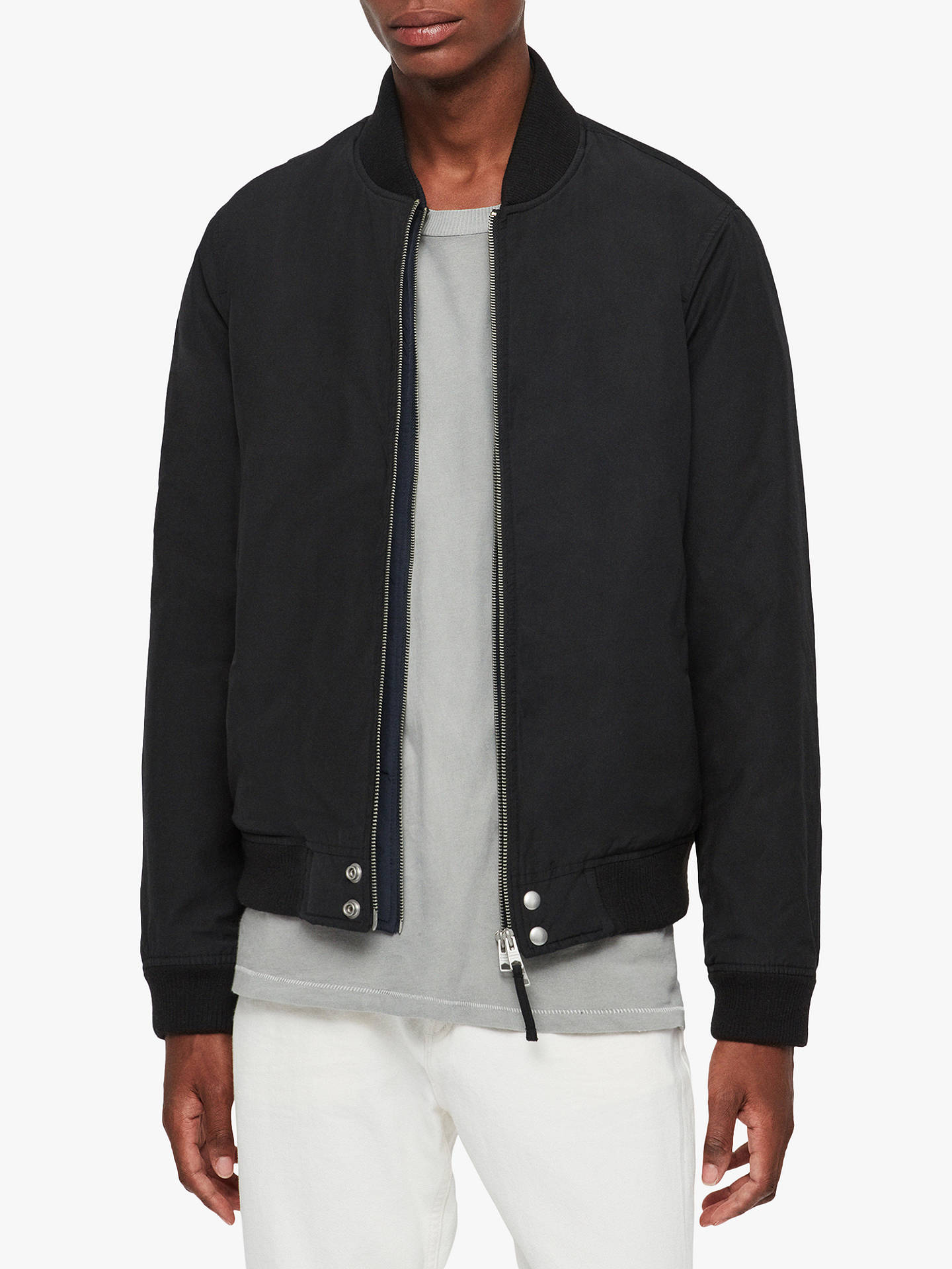 AllSaints Black Cotton Outer Shell