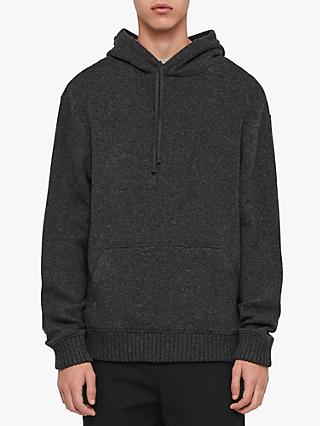 AllSaints Jethro Pullover Hoodie, Charcoal Marl