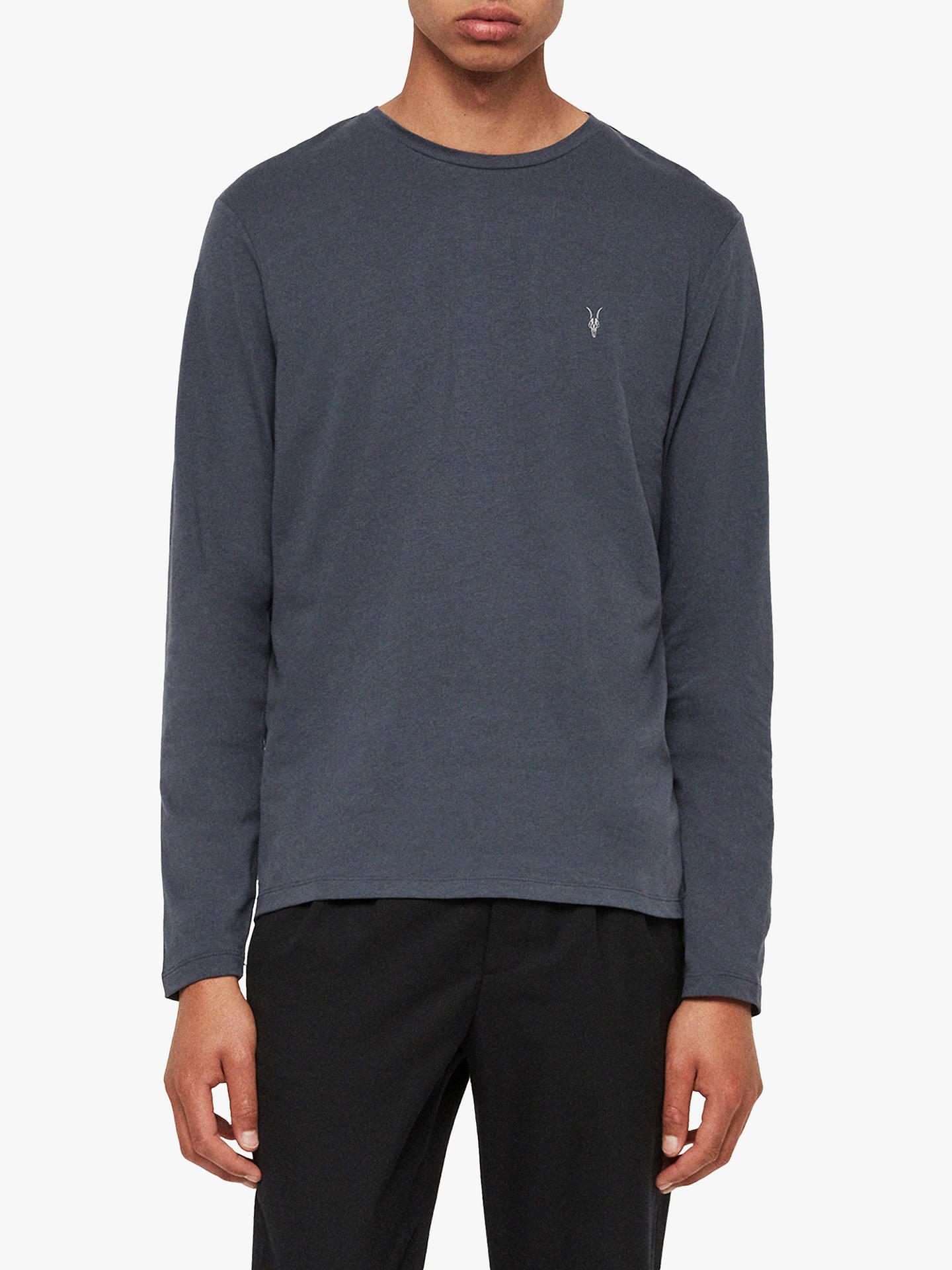 AllSaints Brace Tonic Long Sleeve Crew T Shirt at John Lewis