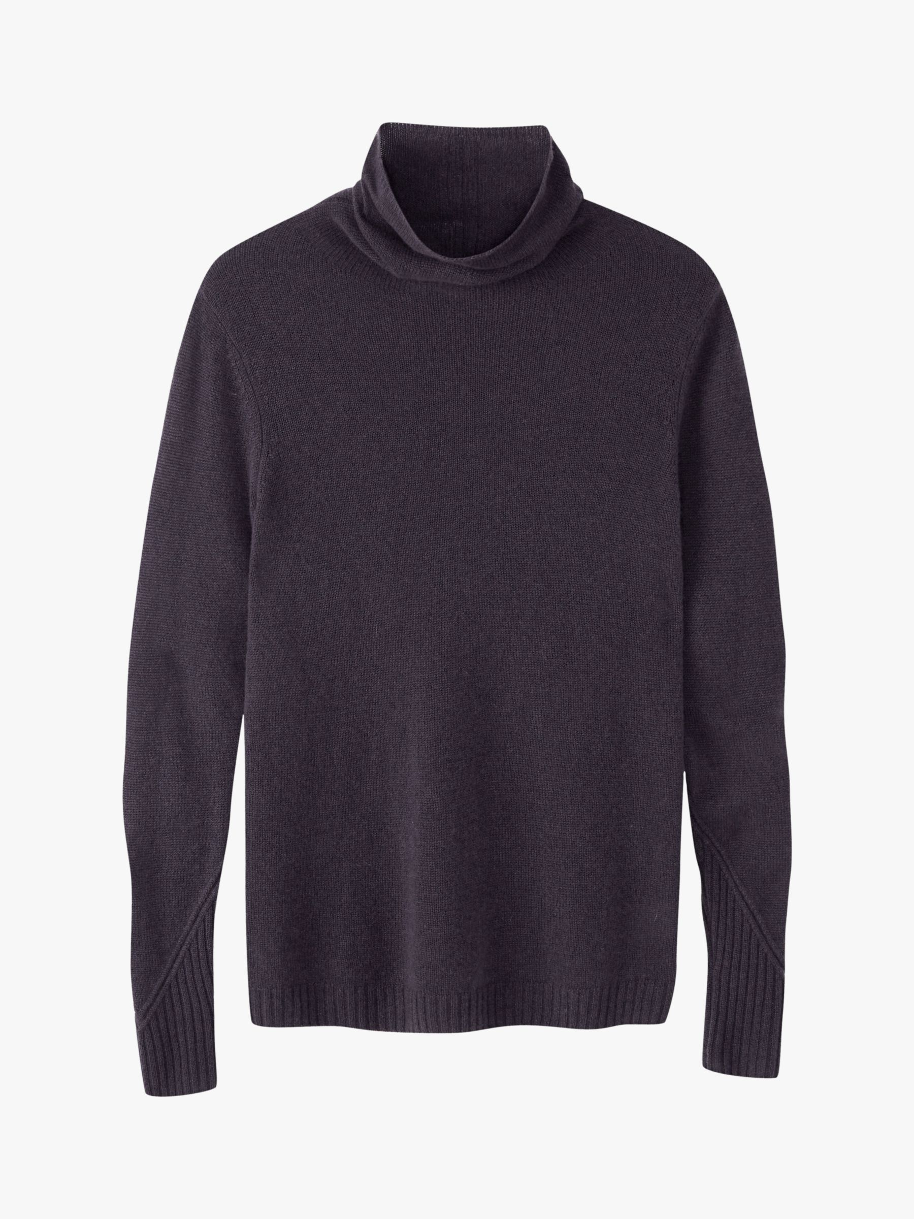Pure Collection Pure Collection Cashmere Lofty Polo Sweater, Smoke