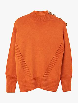 Warehouse Cosy Button Shoulder Jumper