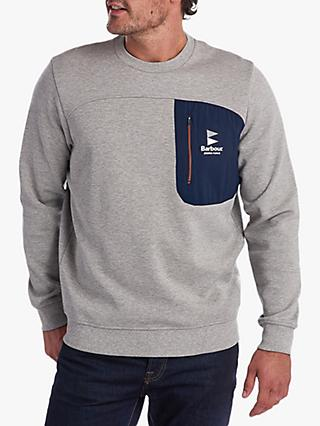 Barbour Stormforce Skiff Crew Sweatshirt, Grey Marl
