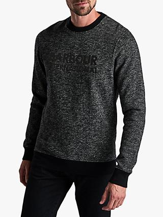 Barbour International  Long sleeve Crew Neck Sweatshirt, Black