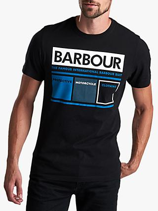 Barbour International Squares T-Shirt, Black