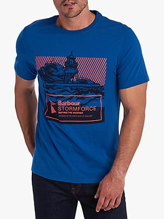 Barbour Stormforce Break Graphic T-Shirt, Grey Marl