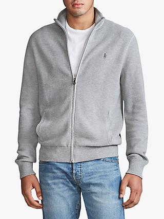 Polo Ralph Lauren Full Zip Sweater, Andover Grey