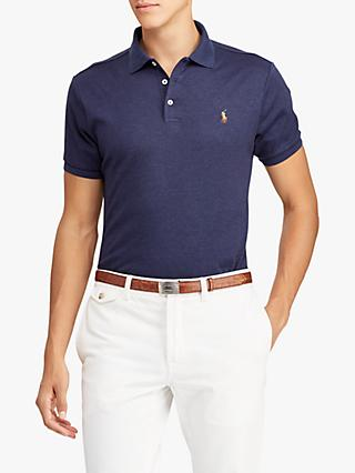 Polo Ralph Lauren Slim Fit Soft Touch Polo Shirt, Spring Navy Heather