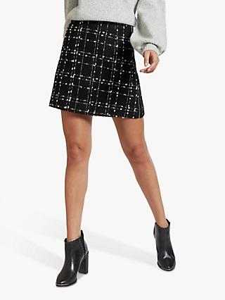 Ted Baker Chele Check Mini Skirt, Black