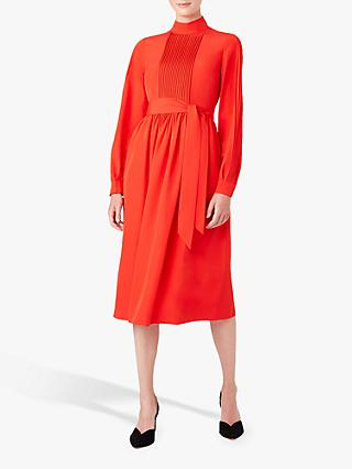 Hobbs Naomi Ottoman Stitch Tie Dress