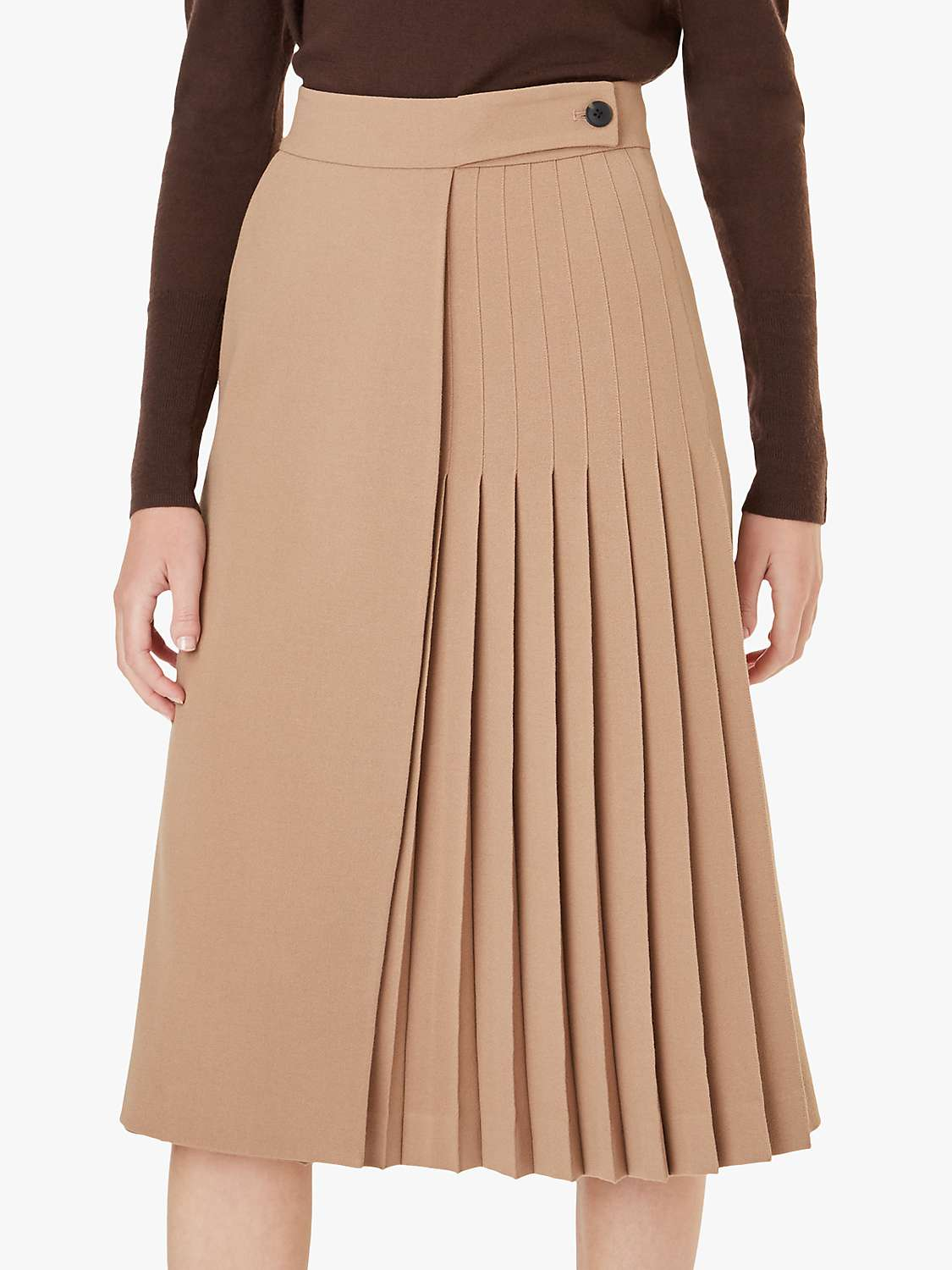Hobbs Piper Pleated Skirt, Camel by Hobbs